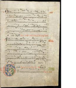 Ermanno Contratto, Historia di Santa Afra di Asburgo, ms di Larksruhe